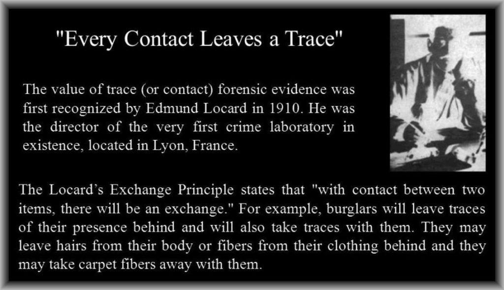 Scena del Crimine principio di Locard