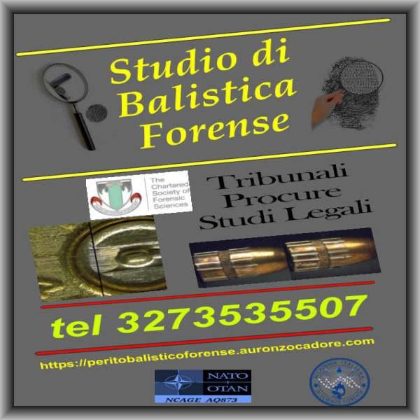 importanza del consulente tecnico perizie balistiche perito balistico forense