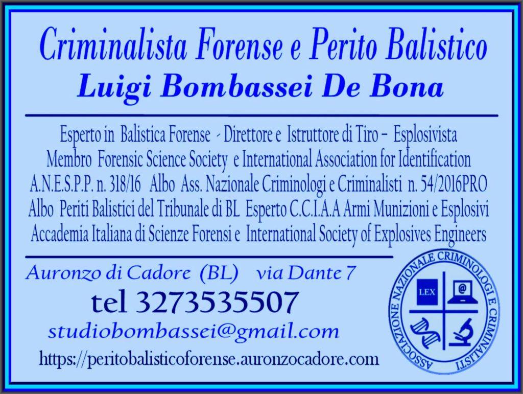 perito balistico criminalista forense italia