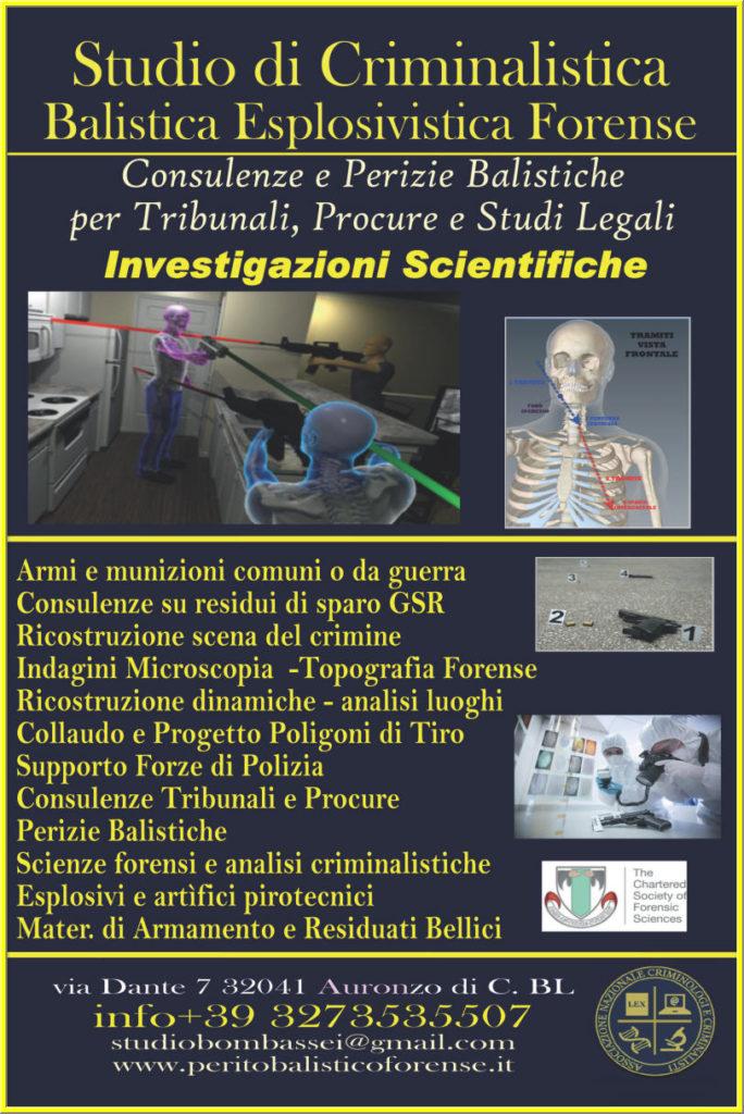 criminologia criminalistica investigazioni scientifiche perito balistico criminalista forense
