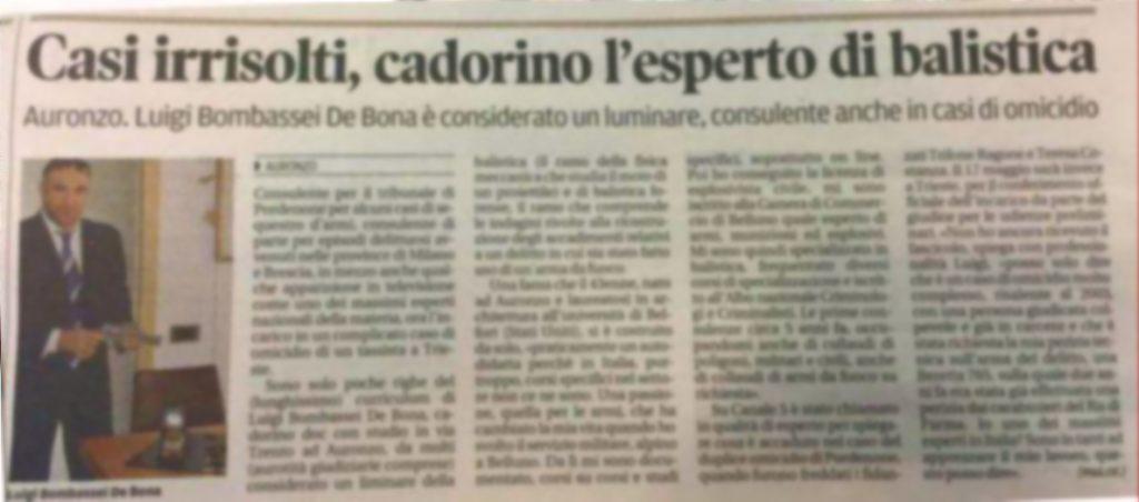 Perito balistico Esplosivista venezia padova Vicenza Trento Bologna Milano Udine Trieste Pordenone Torino genova  Modena
