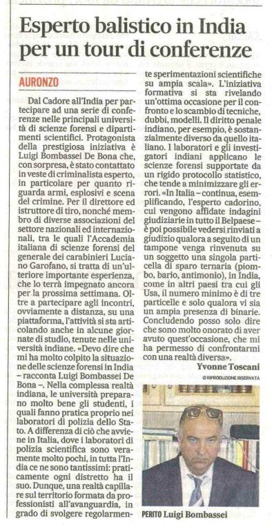 Conferenze india Luigi Bombassei De Bona